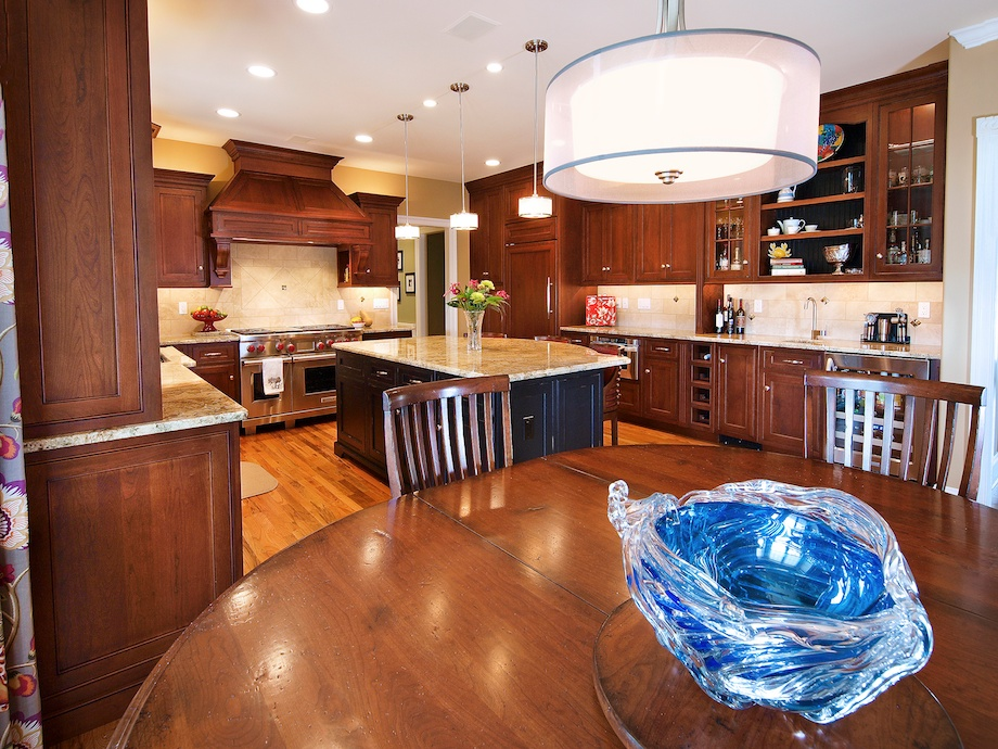 All cabinetry is custom.